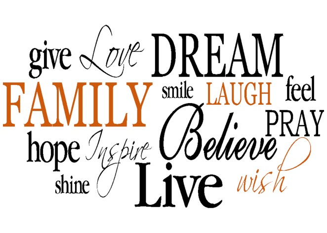 Family Dream Live-word-collage
